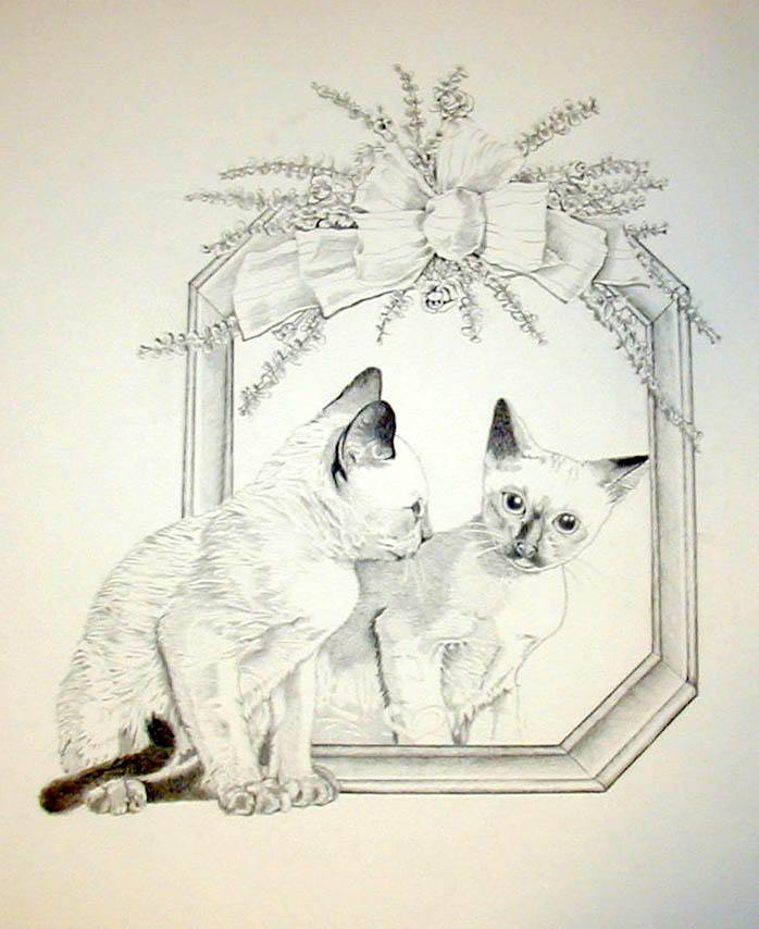 Mirror Kitten by BeckyLiv by BeckyLiv