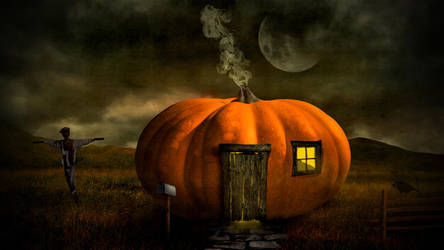 Halloween Pumpkin House by nomadOnWeb