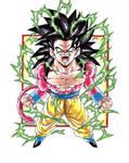 Dragonball GT  Colour Goku SS4 V2 by TriiGuN