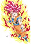 Dragonball Z - Super Sayan GOD!!! by TriiGuN