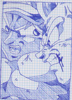 DRAGONBALL Z - SKETCH SON GOHAN VS CELL by TriiGuN