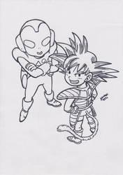 The Jaco Patrolman and Goku V1 by TriiGuN
