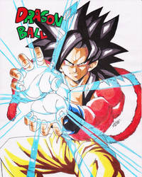 DRAGONBALL GT - SON GOKU SS4 by TriiGuN