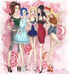 Sailor Moon girls by AlexaFV