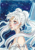 ACEO #02 - Sailor Moon, Queen Serenity by AlexaFV
