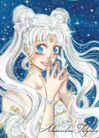 ACEO #03  - Sailor Moon, Princess Serenity by AlexaFV