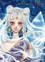 ACEO #05 - Sailor Moon, Neo Queen Serenity by AlexaFV