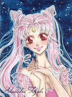 ACEO #06 - Sailor Moon, Princess lady serenity by AlexaFV