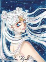 ACEO #08 - Sailor Moon, Cosmos by AlexaFV