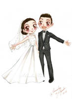 Wedding chibi couple - reupload - by AlexaFV