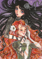ACEO #30 Charlie and Hecate by AlexaFV