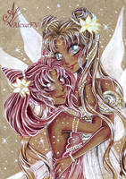Usagi and Chibiusa - Sailor moon fanart by AlexaFV