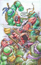 TMNT vs Deadpool by emilcabaltierra