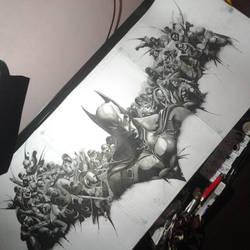 Re-Creation of Batman:Arkham Origin Logo by emilcabaltierra