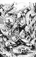 Venom vs Wolverine by emilcabaltierra
