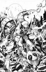 Wolverine Vs Deadpool by emilcabaltierra