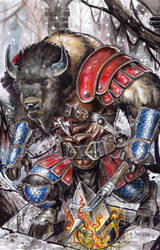 OC Bison Commission by emilcabaltierra