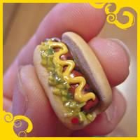 Hotdog Earrings! by lily-inabottle