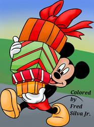 Christmas Presents Mickey by Luzproco