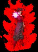 DeDe Ikari Blast (with Aura) by xDe-Dex