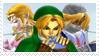 Zelda Link Sheik Stamp by KenxKao
