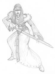 051812 - Claire The Barbarian(ette) by JohnRose-Illustrator