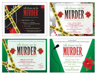 Christmas Party Invitations by JohnRose-Illustrator