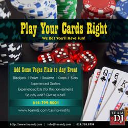 Casino Night Advertisement by JohnRose-Illustrator