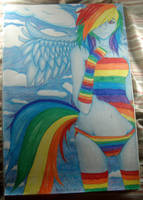 .Rainbow Dash. by mysticmoon13