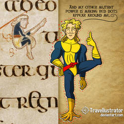 Weirdies From the Book of Kells: 80's X-Man by travellustrator