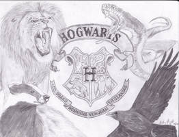 Hogwarts Crest Alive by ashleymd7