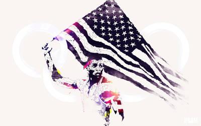 Carl Lewis - Legendary Olympians by Espador