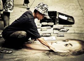 Street Artist by jenniferstuber