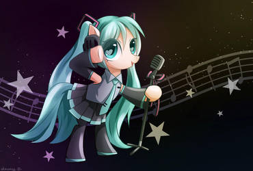 Ponified Hatsune Miku by Jeremywithlove