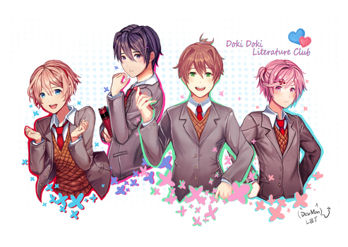 Doki Doki Literature Club Genderbend by Lovebirdtreat