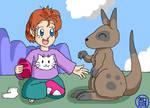 Hatari and kangaroo by Kairu-Hakubi