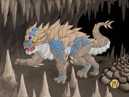 Cave Dragon by Kairu-Hakubi