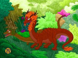 Forest Dragons' Garden by Kairu-Hakubi