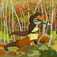 Autumn Huntress Wizard by Kairu-Hakubi