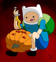 Pumpkin Time - Finn by Kairu-Hakubi