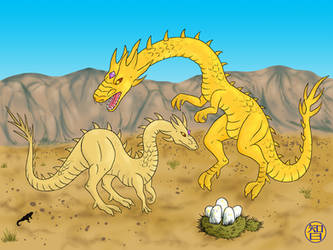 Sand Dragons by Kairu-Hakubi