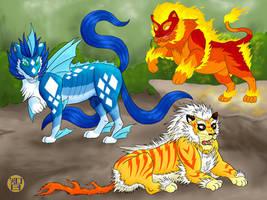 Three Kinds of Lion Things by Kairu-Hakubi