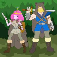 Warrior Couple by Kairu-Hakubi
