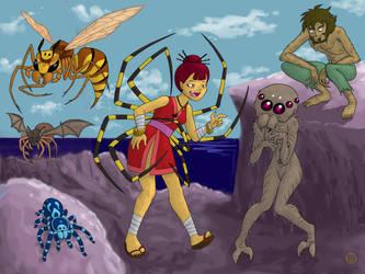 Things That Are Spiders - part 1 by Kairu-Hakubi