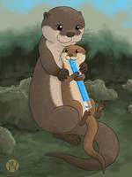 Otter Mom And Pop by Kairu-Hakubi