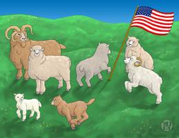 Patriotic Sheep by Kairu-Hakubi