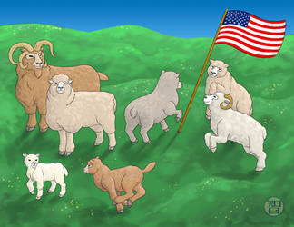Patriotic Sheep by Kairu-Hakubi