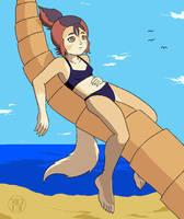 Wilykit Loungin' on a Palm Tree by Kairu-Hakubi