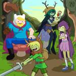 A Friendly, Frondy Family by Kairu-Hakubi