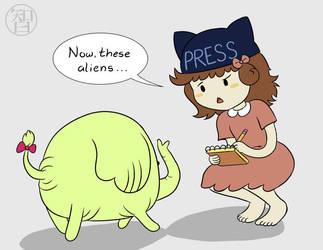 Press Princess Does Not Work for a Tabloid by Kairu-Hakubi